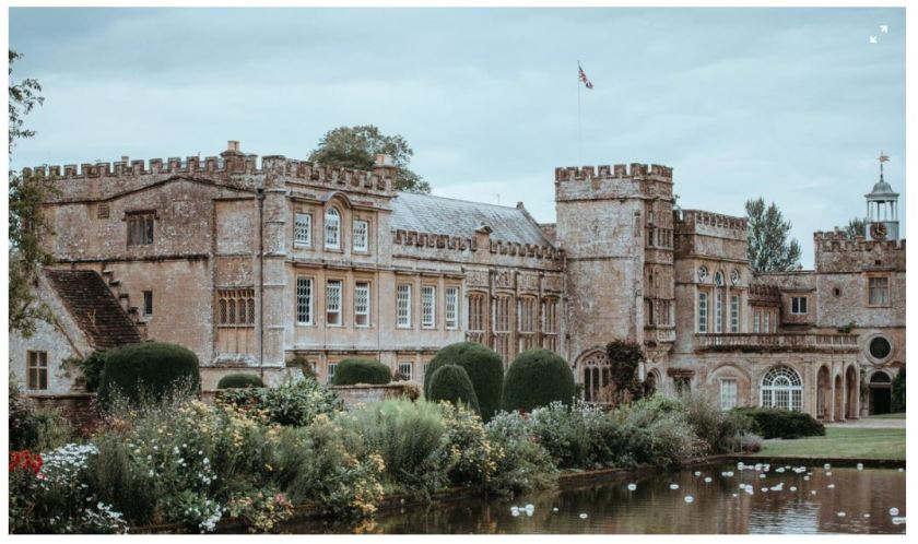 I am convinced that the correct plant selections will make my home appear to be a castle. -Photo by Annie Spratt, amid home, Forde Abbey, Chard, United Kingdom, England, great gardens, castles, historic architecture, stone facade, reflecting pond, reflecting pool, in bloom